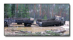 kamion u vodi